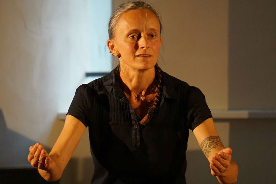 Joanna Sarnecka podczas Preteksttów Kulturalnych. Fot. Waldemar Lenkowski